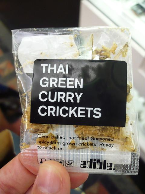 Snack de grillos al curry estilo Thai. Foto: Flickr/DichoHecho