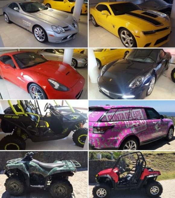 Vehículos en la chacra de Balcedo / Foto: Infobae