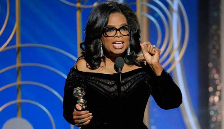 El imperdible discurso de Oprah Winfrey en los Globos de Oro.