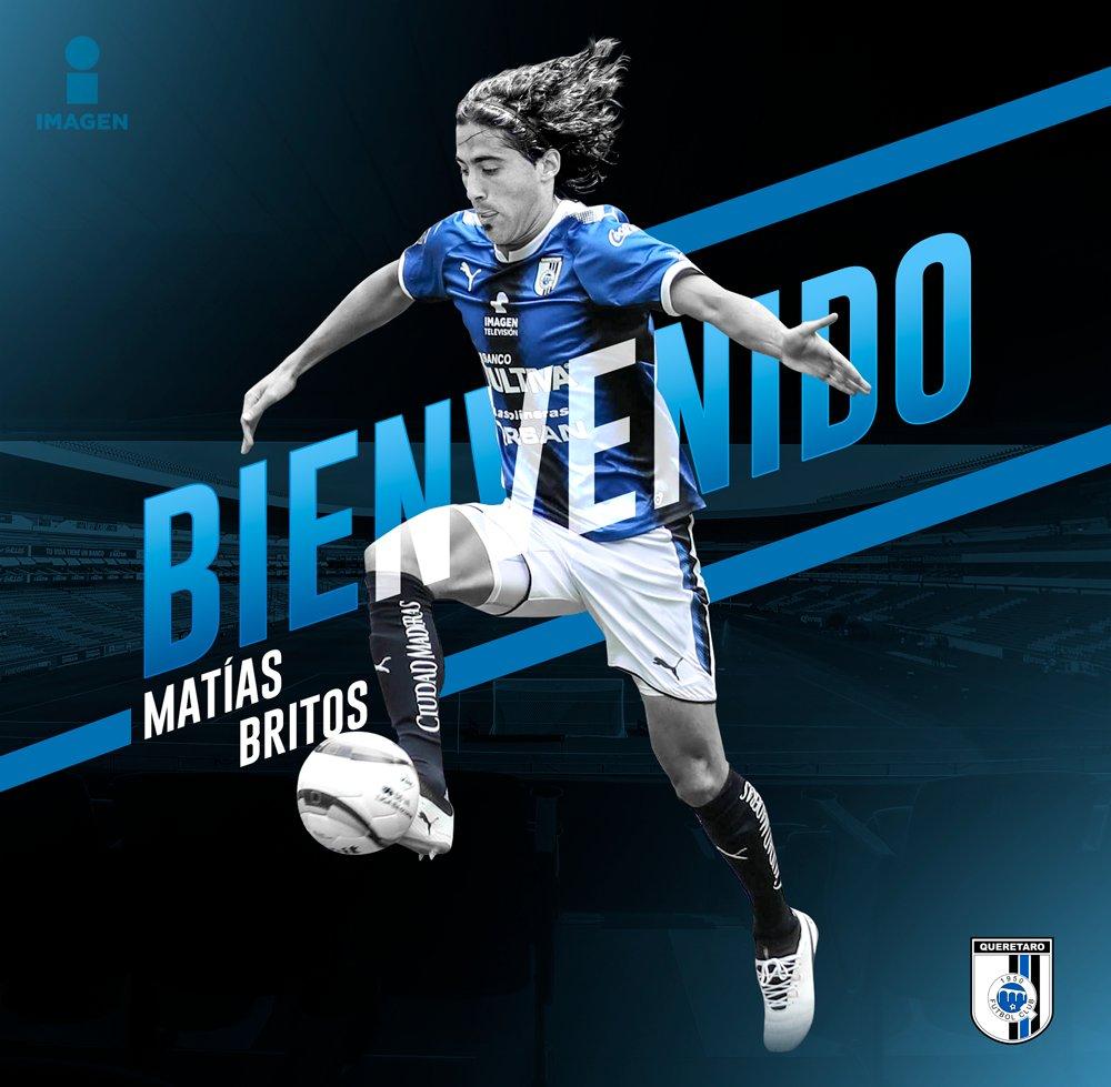 Matías Britos, nuevo jugador del Querétaro