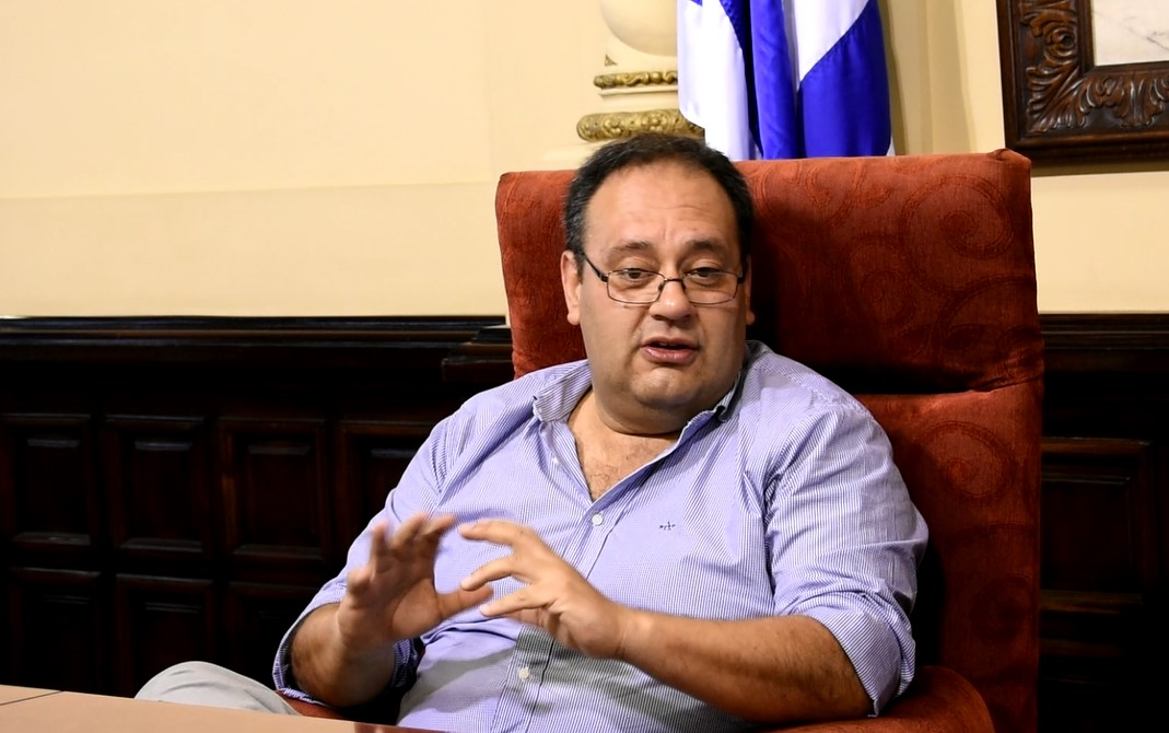 Guillermo Caraballo, intendente de Paysandú. Foto: Carlos Loría - LARED21