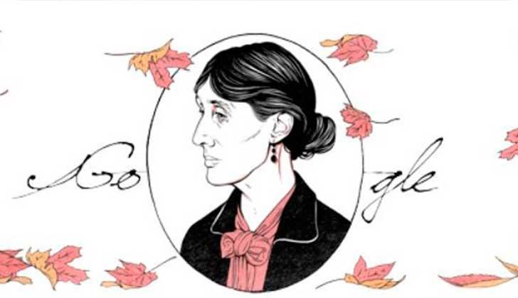 Imagen del doodle Google del 25 de enero en homenaje a Virgina Woolf.