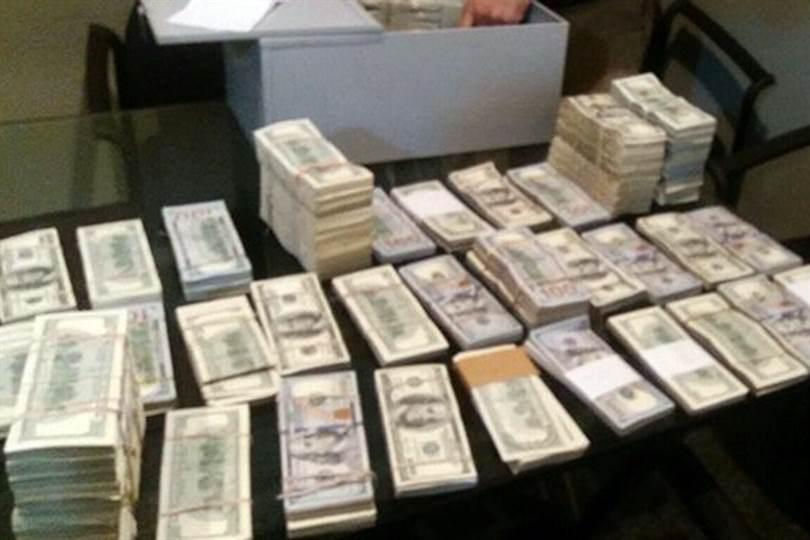 Los investigadores calculan que puede haber cerca de US$7 millones. Foto: Twitter