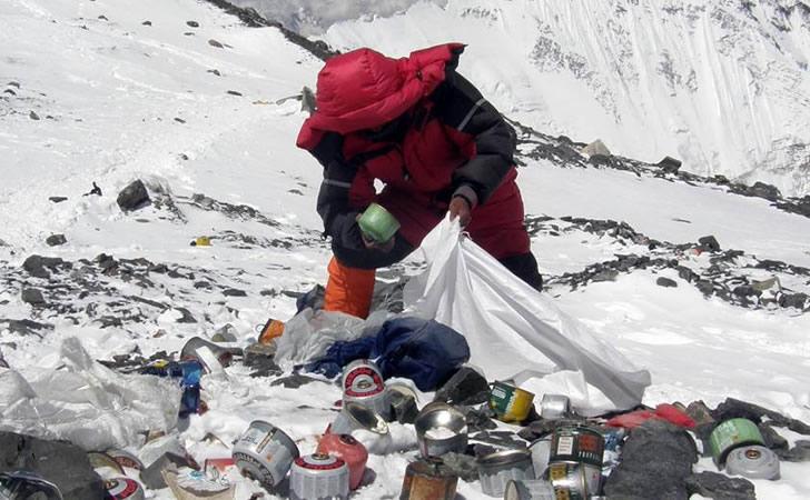 Basura en el Monte Everest / Foto: NBC News
