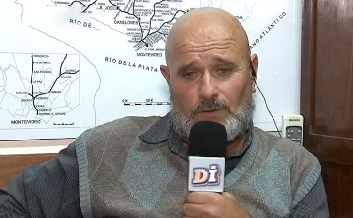 Carlos Aramendi, presidente de la Unión Ferroviaria / Foto: Teledoce