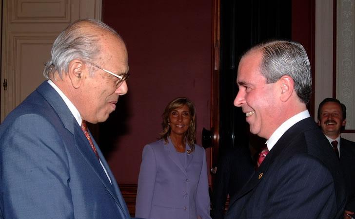 El ex Presidente Jorge Batlle junto a Marcelo Graniero / Foto: Presidencia