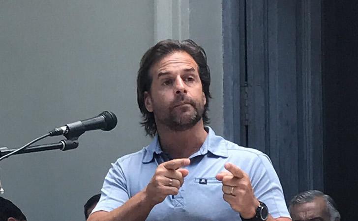 Luis Lacalle Pou en acto homenaje a Leandro Gómez / Foto: Javier García