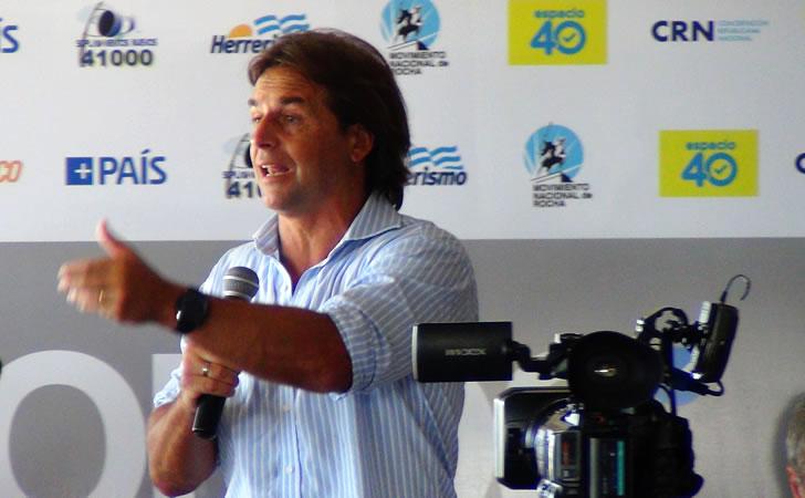 Luis Lacalle Pou en el encuentro en La Paloma, Rocha / Foto: Entre líneas