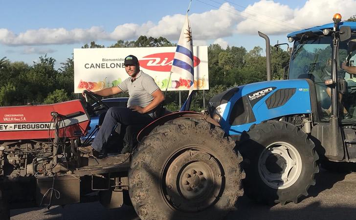 Movilización de productores rurales en Canelones / Foto: Jorge Alvear