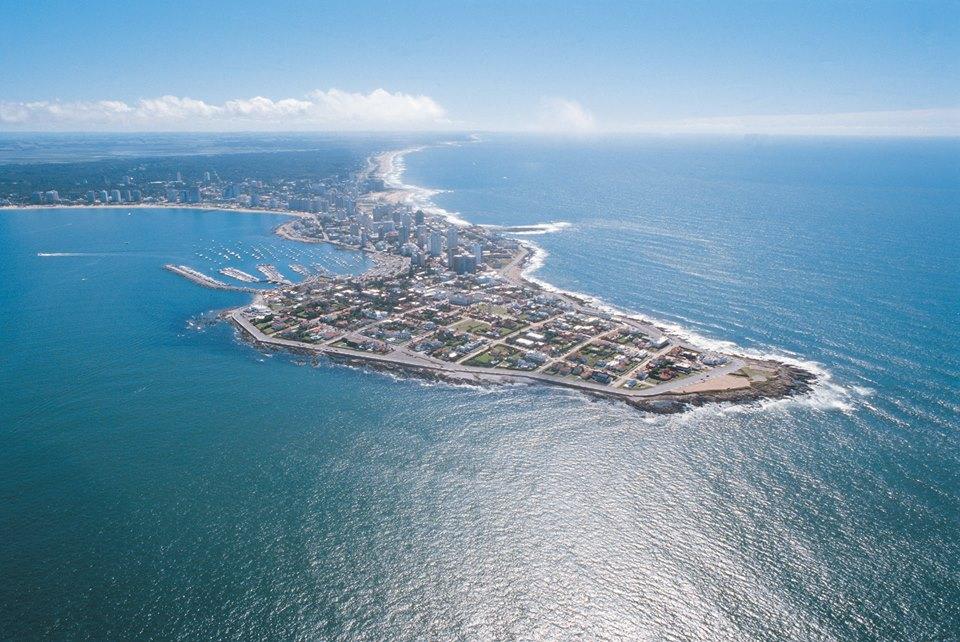 Vista aérea de Punta del Este. Foto: Uruguay Natural