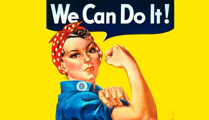 Falleció Naomi Parker Fraley, la mujer que inspiró el cartel de Rosie la Remachadora.