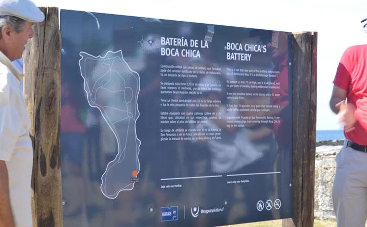 Inauguración de la señalización en la Isla Gorriti / Foto: Presidencia