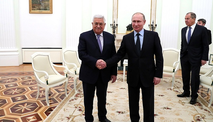"""Abbas: """"EE.UU. no puede mediar en el proceso de paz palestino"""". Foto: Kremlin"""
