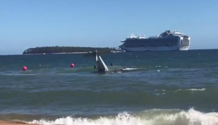 Cayó avión en Punta del Este: los ocupantes están ilesos