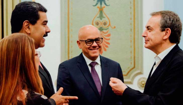 Maduro recibió a Rodríguez Zapatero tras la suspensión del diálogo con la oposición venezolana.