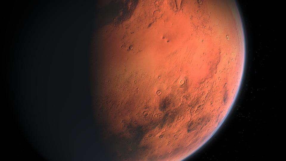 Representación artística del planeta Marte. Foto: Pixabay