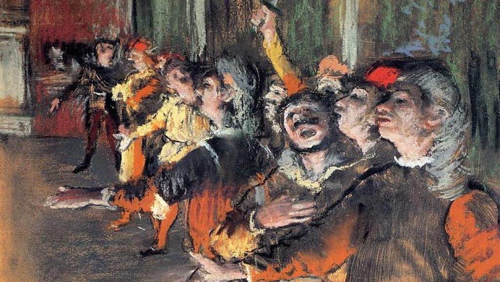 Les Choristes, pintada por Degas en 1876. Foto: Wikimedia Commons