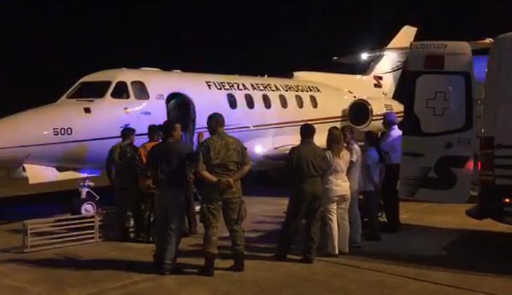 La Fuerza Aérea usó por primera vez el avión multipropósito para un traslado sanitario. Foto: Facebook Fuerza Aérea