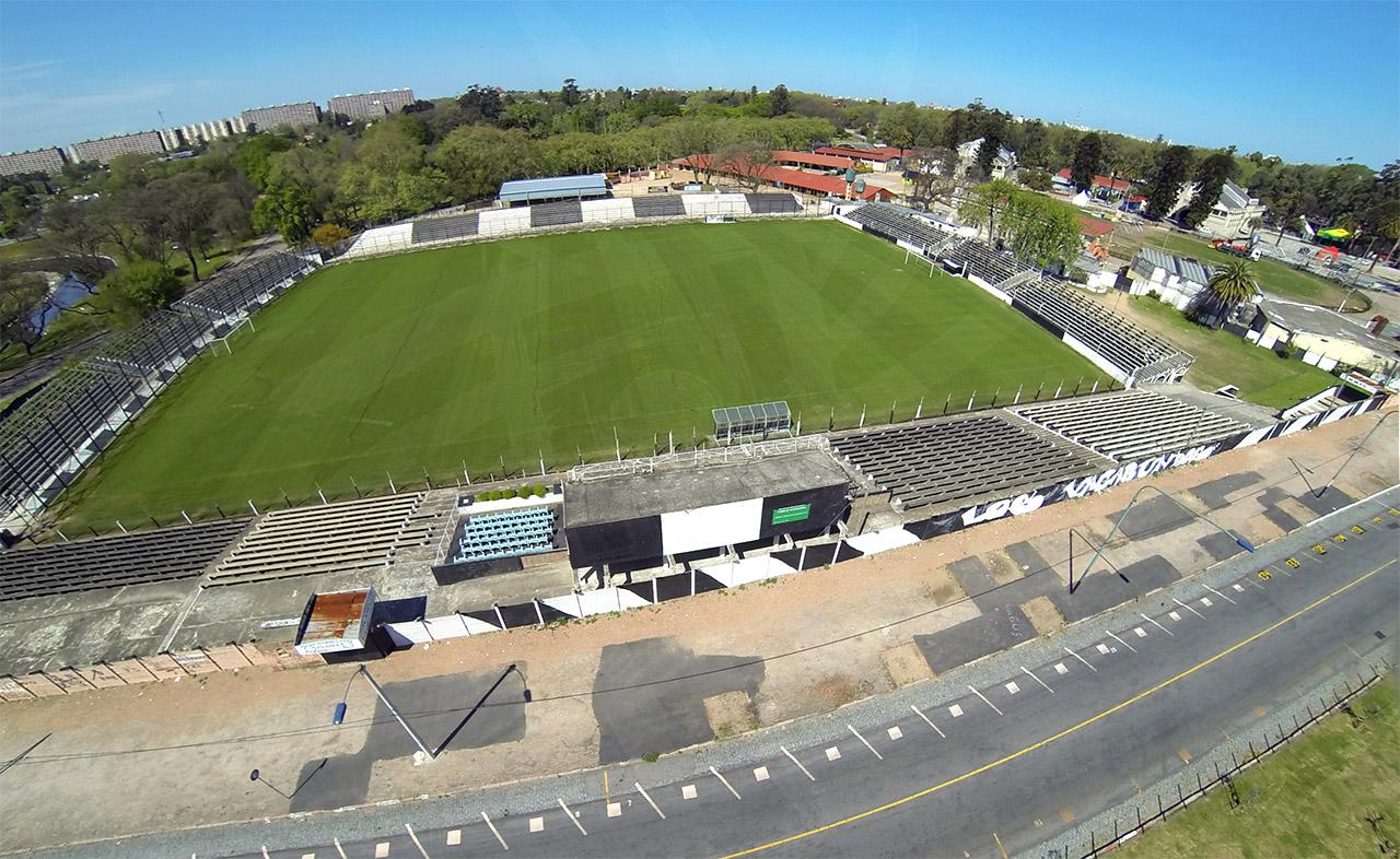Viasta aérea del estadio Alfredo Víctor Viera del club Montevideo Wanderers