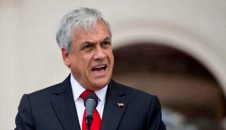"""Sebastián Piñera: """"Chile no tiene temas limítrofes pendientes con Bolivia""""."""