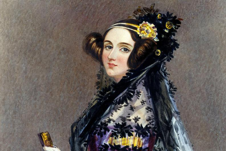 Pintura de Ada Lovelace por Alfred Edward Chalon. Foto: Wikimedia Commons
