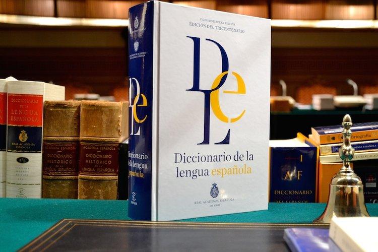 Versión impresa del Diccionario de la Real Academia de la Lengua Española. Foto: rae.es