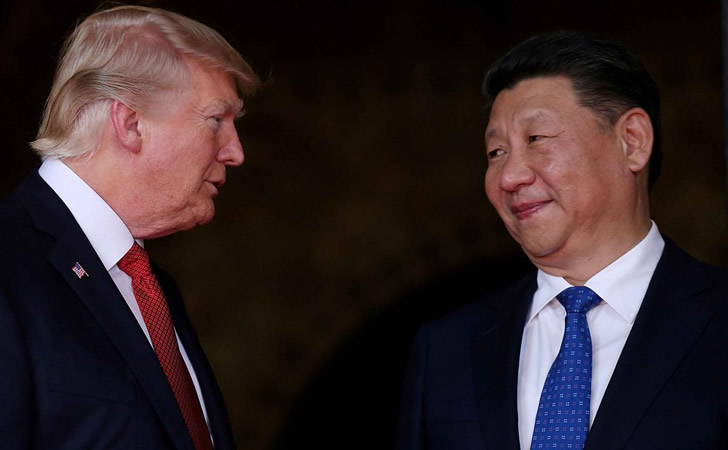 Donald Trump (Estados Unidos) junto Xi Jinping (China)