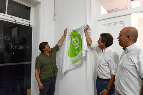 Descubrimiento de la placa en la Usina Cultural Peñarol