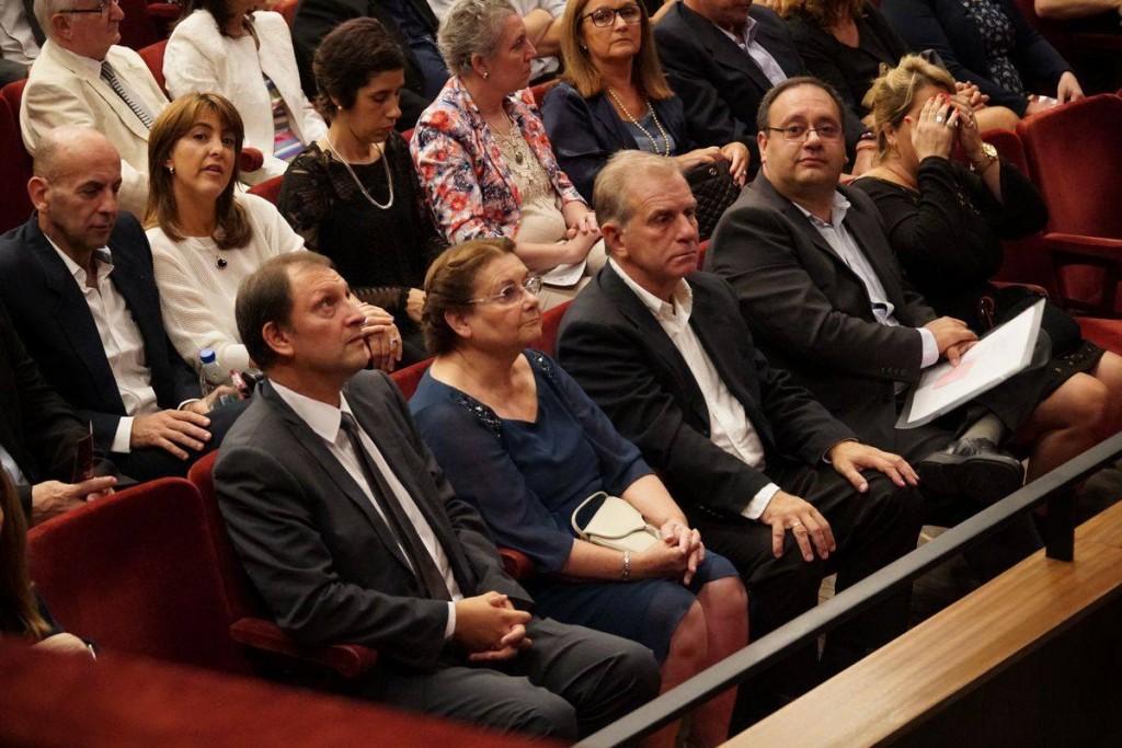 Ministra interina de Educación y Cultura, Edith Moraes, e intendente de Paysandú, Guillermo Caraballo.
