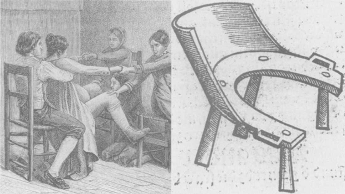 Los taburetes de parto se usaban comunmente en el siglo XIV. Foto: Wikimedia Commons