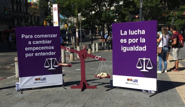 FA realizó una campaña de concientización contra la desigualdad de género.