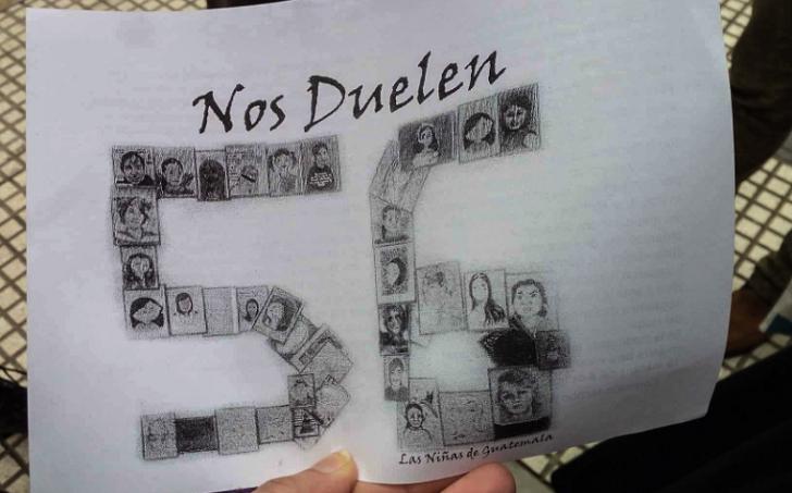 """""""Nos duelen 56"""", un año del mortal incendio en el hogar del Estado en Guatemala. Foto:MARÍA FLORENCIA ALCARAZ /LATFEM"""