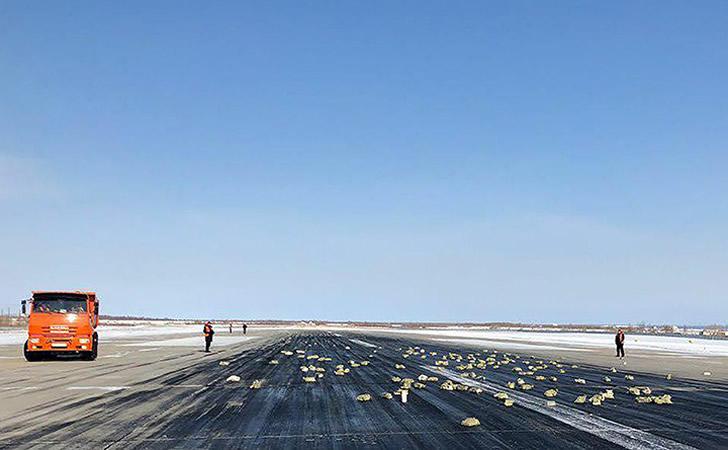 Cayeron lingotes de oro desde un avión en Siberia