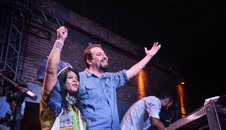 El líder del Movimiento de los Trabajadores Sin Techo se lanzó a la presidencia en Brasil. Foto: Midia Ninja