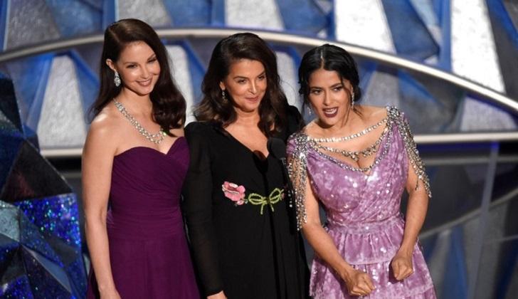 Oscar 2018: Ashley Judd, Annabella Sciorra y Salma Hayek se pronunciaron contra el abuso sexual.