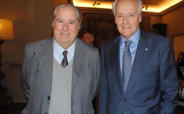 Pablo García Pintos (izquierda) junto a Antonio Mercader (derecha) en reconocimiento a Jaime Trobo / Foto: TvShow