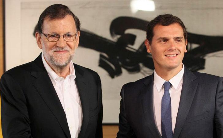 Rajoy y Rivera en investidura / Foto: EFE