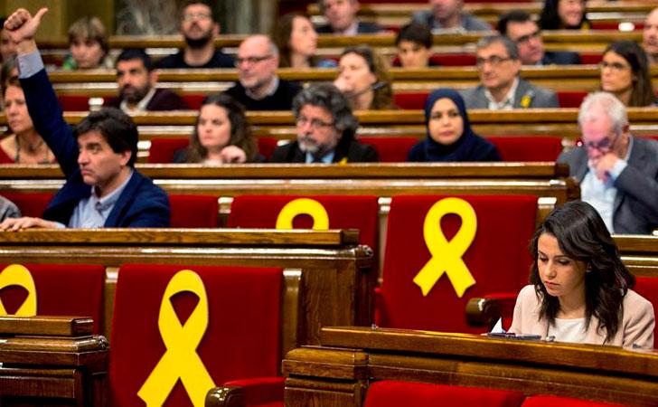 Votación de la reivindicación de la investidura de Puigdemont / Foto: EFE