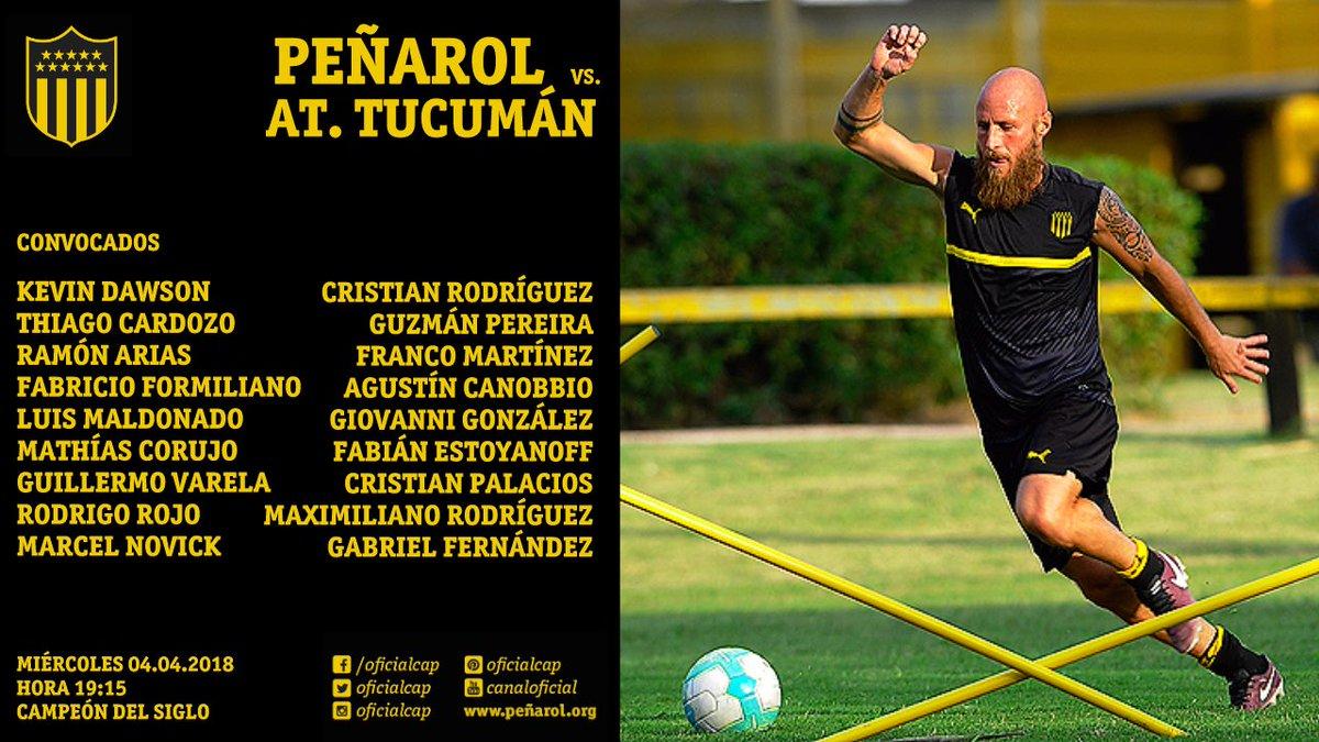 Atlético Tucumán visita a Peñarol por la Copa