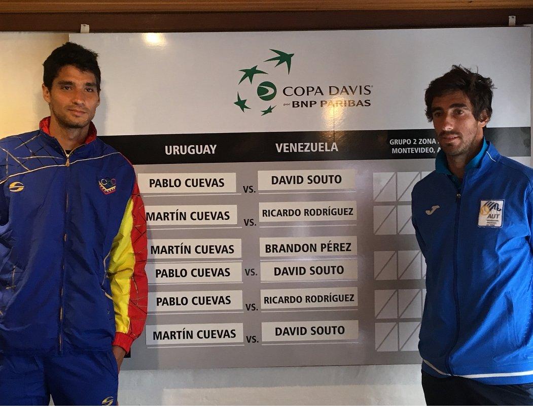 Uruguay venció a Venezuela por la Davis