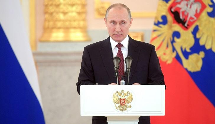 "Putin: ""Usar la fuerza militar al margen de la ONU favorece al terrorismo"". Foto: Kremlin"