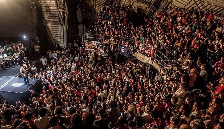 """Histórico acto de las izquierdas de Brasil """"por la democracia y contra el fascismo"""". Foto: Midia Ninja"""