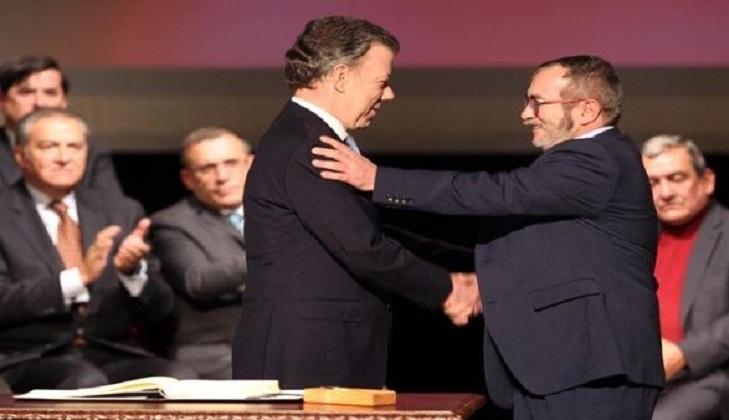 FARC y Gobierno de Colombia acuerdan seguir con el proceso de paz pese a la detención de Santrich. Foto archivo.
