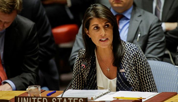 """Nikki Haley: """"EE.UU. no retirará sus tropas de Siria hasta que logremos nuestros objetivos""""."""
