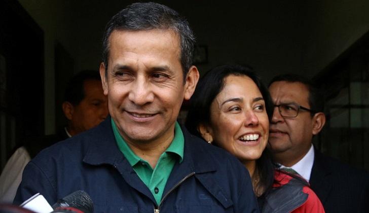 Tribunal Constitucional de Perú revoca prisión preventiva a Ollanta Humala y Nadine Heredia.