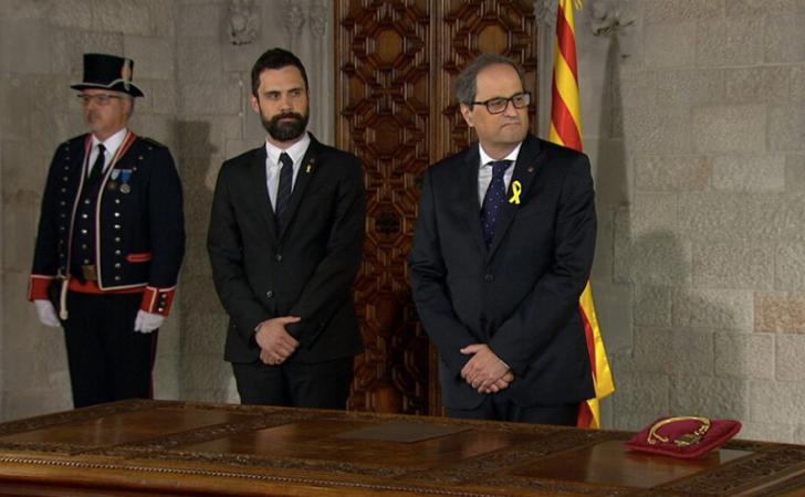 Quim Torre (der) fue nombrado como el 131º Presidente de la Generalitat de Catalunya.
