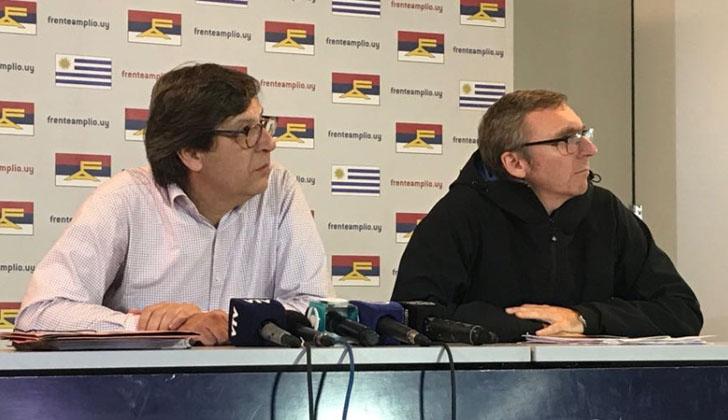 Javier Miranda (presidente del FA) y Gonzalo Reboledo (secretario político) Foto. Frente Amplio.