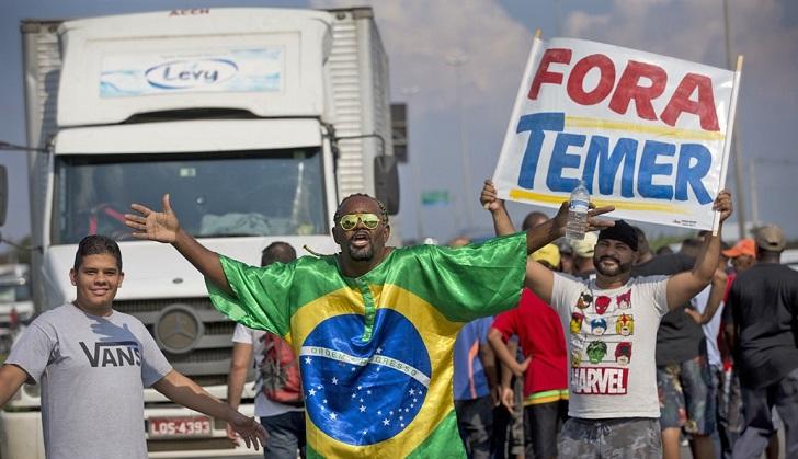 Temer llama al ejército para evitar el colapso en Brasil