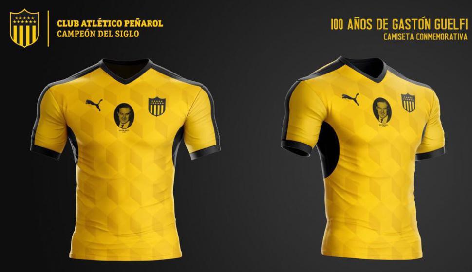Camiseta homenaje a Gastón Guelfi / Foto: Peñarol