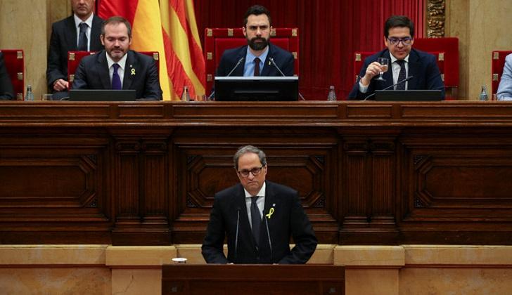 Quim Torra fue investido president de Cataluña .